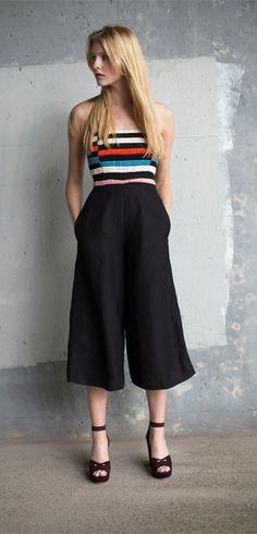 Mara Hoffman Black Embroidered Jumpsuit & Zimmermann Mulberry Platform Heel