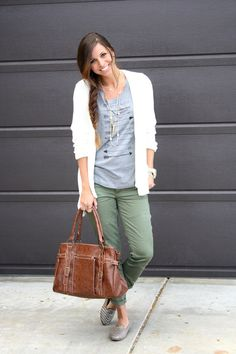 t shirt, comfy cardi, relaxed boyfriend jeans and loafers