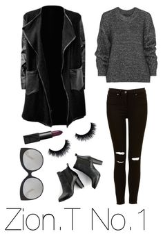 """""""Zion.T No.1"""" by scarleteye18 on Polyvore featuring Belstaff, SWEET MANGO, Linda Farrow Luxe, NARS Cosmetics, kpop, airportfashion and zion"""