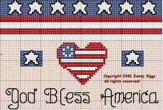 God Bless America Cross Stitch Chart