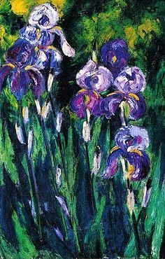 Irises in Evening Shadows, 1925 Max Pechstein