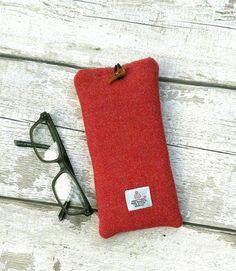 a739c30fdb2d Items similar to Terracotta Harris Tweed Glasses Case