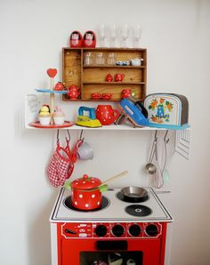 vintage inspired play kitchen