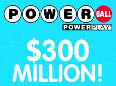 The ‪#‎Powerball‬ jackpot has increased to $300 MILLION for Saturday (8/3) night's draw!
