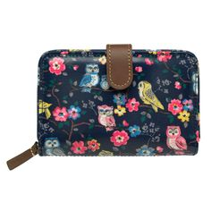 Mini Owls And Flowers Folded Zip Wallet   View All   CathKidston -(Prezzie for Mum for xmas?)