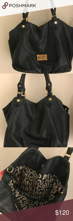 Marc by Marc Jacobs shoulder bag Black tote bag. SUPER cute, go-to bag. Fits iPad, notebook, or laptop. In good condition-only missing cross body strap. Marc By Marc Jacobs Bags Shoulder Bags