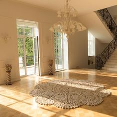 This handmade 3 m Giant of a carpet is giving life to a 17th century family villas living room. Carpet by merleholm.eu Room Carpet, Carpet Design, 17th Century, Villas, Animal Print Rug, Living Room, Handmade, Life, Instagram