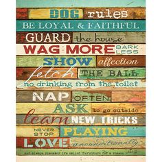 Dog Rules - artwork by Penny Lane Artist Marla Rae