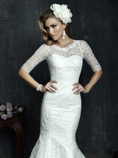 Amazing, breathtaking collection of luxury wedding dresses 2014 the well-known American company Allure Bridals. Wedding Dresses 2014, Luxury Wedding Dress, Wedding Gowns, Lace Wedding, Dresses 2013, Modest Wedding, Mermaid Wedding, Allure Couture, Bridal Lace