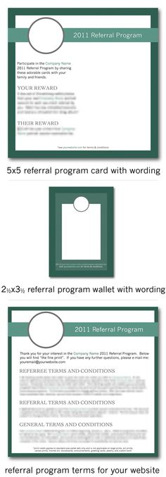 referral cards