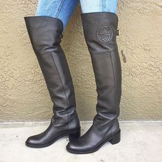 Gucci Soho Leather Over the Knee boots just in! Size: 37.5! Call us at 813-258-8800 if you would like to purchase!