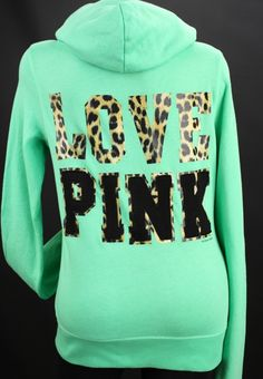 Yes!!!! Love This<3 VS Pink, Teal Cheetah Sweatshirt :)