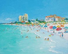 Clearwater Beach Florida Beach decor beach art by JanMatsonArt