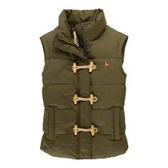 The Bankhall gilet with wooden toggle and loop fastening, from Jack Wills.