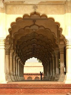Red sandstone carvings in the Jehangiri Mahal of Agra Fort. Because of its proximity to the Taj Mahal, Agra Fort is the second most. Indian Architecture, Architecture Details, Monuments, The Places Youll Go, Places To See, Beautiful Buildings, Beautiful Places, Agra Fort, Asia