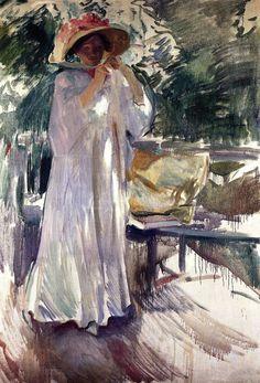 Clotilde en el jardín. 1910