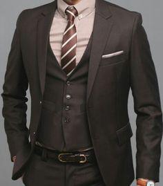 brown wedding suit for men - Google Search | Stevo Suit Ideas ...