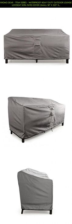 KHOMO GEAR - TITAN Series - Waterproof Heavy Duty Outdoor Lounge Loveseat Sofa Patio Cover (.Small 58'' x 32.5'' x 31'', Grey) #racing #tech #shopping #technology #patio #fpv #kit #products #camera #parts #plans #covers #furniture #waterproof #gadgets #drone