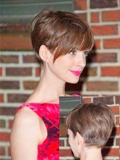 Anne Hathaway // Pixie Haircut // Adorable! | Beauty // Hair ...