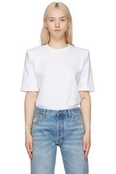 Designer Clothes, Shoes & Bags for Women | SSENSE Bella T Shirts, Collar Blouse, Rib Knit, Bell Sleeve Top, Women Wear, Sleeves, Leather Flats, Patent Leather, Logo