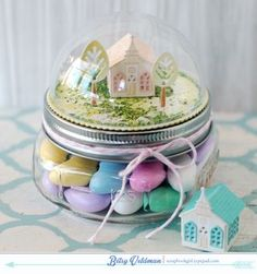 Easter Jar Topper by Betsy Veldman for Papertrey Ink (February 2015)