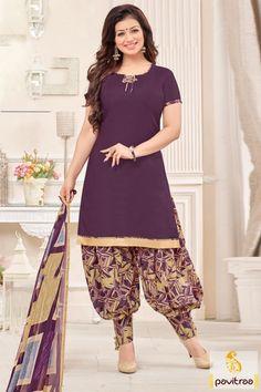 Dhoti Style Patiala Salwar Suit Designs for Punjabi Girls.