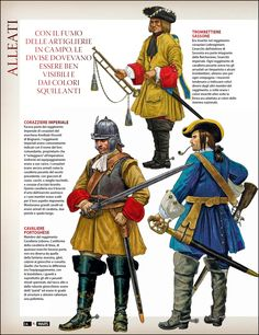 Portuguese soldier from Lisbon Cavalry regiment (bottom right side) - War of Spanish Succession 1701-1714