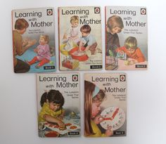 Learning with Mother: The Ladybird Under Five Series, vintage Ladybird hardback books 1970-1972