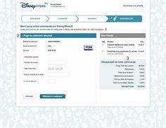 Page paiement en ligne -DisneyStore