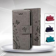 대한 iphone 5 s 패션 꽃 인쇄 고급 pu 가죽 스탠드 지갑 플립 커버 전화 케이스 iphone 5 5 s se 카드 슬롯