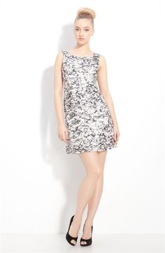 Alice Olivia Tegan Layered Silk Dress