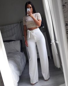 Wear an outfit like this Fashion Killa, Look Fashion, Autumn Fashion, Fashion Outfits, Womens Fashion, White Fashion, Fashion 2017, Classy Outfits, Stylish Outfits
