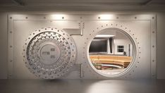 Whether seeking the premier panic room or simply seeking serious relaxation and relief from a hard days work, this ultimate luxury vault room has you covered.