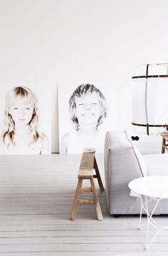 Fill In Your First Apartment, Fast: 7 Larger-Than-Life Wall Art DIY Ideas (On a Little Budget) — Apartment Therapy Diy Wall Art, Diy Art, Giant Wall Art, Wall Decor, Diy Poster, Photo Deco, Engineer Prints, Jolie Photo, Photo Displays