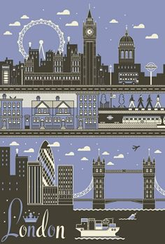 London city poster.   by elvira.