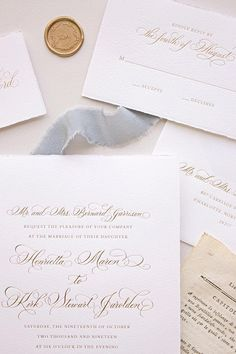 You desire a wedding event invite to complement the overall style and mood of the wedding. Is your wedding official or casual? A formal wedding may require traditional script font styles, formal wording, and the standard double envelope. Traditional Wedding Invitations, Classic Wedding Invitations, Elegant Wedding Invitations, Formal Invitations, Invitations Online, Wedding Programs, Letterpress Invitations, Letterpress Wedding Invitations, Vintage Wedding Invitations