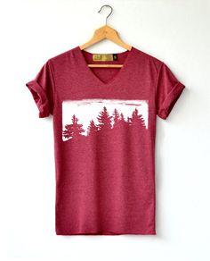 Items similar to Forest Shirt Hiking Shirt Adventure shirt pine tree shirt T-Shirt High Quality Graphic T-Shirts Unisex on Etsy Tee Shirt Rouge, T Shirt Noir, Traje Casual, T Shirt Original, T Shirt Designs, Direct To Garment Printer, Custom T, Shirt Style, Unisex