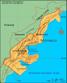 Monaco map world map europe monaco maps large color map Monaco