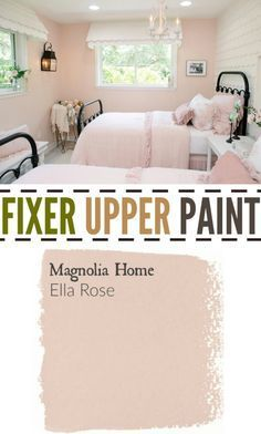 Upper Season Four Paint Colors Best Matches For Your Home Fixer Upper Paint Color Ella Rose. Perfect color for a little girls room or nursery paint color. Perfect color for a little girls room or nursery paint color. Teenage Girl Bedrooms, Little Girl Rooms, Bedroom Girls, Master Bedroom, Kid Bedrooms, Light Pink Girls Bedroom, Blue Bedrooms, Pink Room, Master Suite