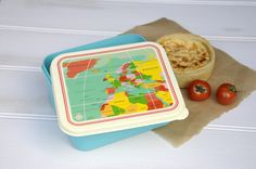 Lunch Box Vintage World Map  - £4.95