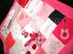 My Little Clothing Blanket Toddler/ Crib Sized by LittleCrystal, $150.00