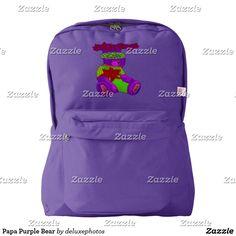 Papa Purple Bear Backpack