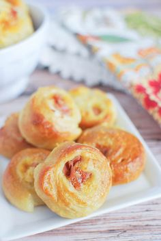 Ham and Cheese Pretzel Bites - ham and cheddar cheese rolled into homemade soft pretzel dough! These disappear so fast when I make them!