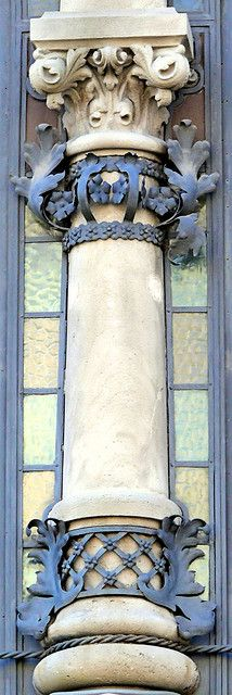 Barcelona - Blue and white column