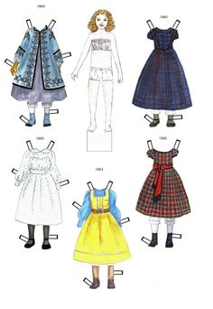 1860-1863 * 1500 free paper dolls at Arielle Gabriels The International Paper Doll Society also free paper dolls The China Adventures of Arielle Gabriel *