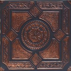 "Lima Accent Copper Black (20x20"" Pvc) Ceiling Tile by Antique Ceilings. $13.95. Tin like look from a modern material. For Glue-on or Nail-on Installation. Can be painted with most any water or latex based paints. Easy to cut. High quality PVC matterial. These ceiling tiles are finished in antique design and are made of uniform Plastic. With this technology, it is possible to obtain smooth and even surface. They will give your ceiling an extremely attractive look. Additionally, ..."