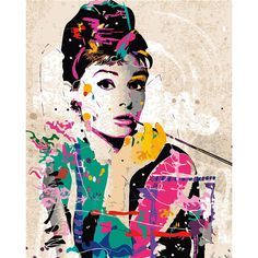 Paint by Number Kits, Audrey Hepburn DIY Painting picture on canvas Home decor wall art for adult DIY Painting Gift by on Etsy Basic Painting, The Joy Of Painting, Oil Painting Abstract, Figure Painting, Diy Painting, Audrey Hepburn Arte, Audrey Hepburn Painting, Dibujos Pin Up, Wall Decor Pictures