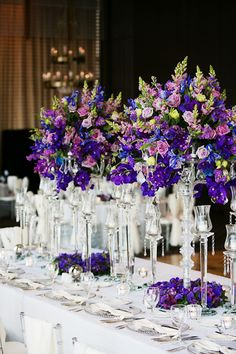 Wedding Head Table Centerpieces- D Jones Photography