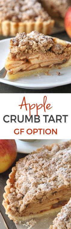 Apple Crumb Tart – can be made with gluten-free, whole grain or all-purpose flours!