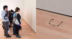 ¡No es broma! Confunden gafas con obra de arte | EL DEBATE Things To Think About, Flooring, Glasses, People, Pranks, Museums, Artworks, History, Eyewear